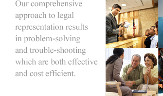 Attorneys with a comprehensive approach to legal services.